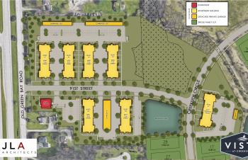 new apartments kenosha, vista at creekside, site map
